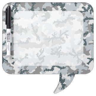 Urban camouflage dry erase board