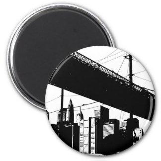 Urban Chic 2 Inch Round Magnet