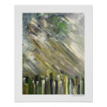 Urban City Abstract Poster Green 20 x 16 Prints