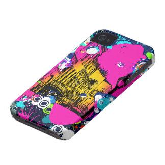 urban city graffiti paint splatter design colorful Case-Mate iPhone 4 cases