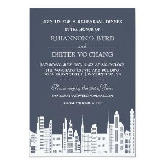 Urban City Rehearsal Dinner Invitations