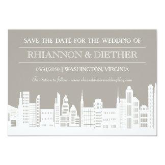 Urban City Save the Dates Card