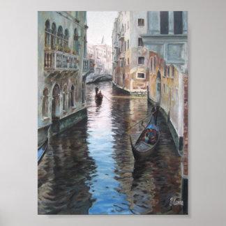 Urban cityscape of Venice Poster