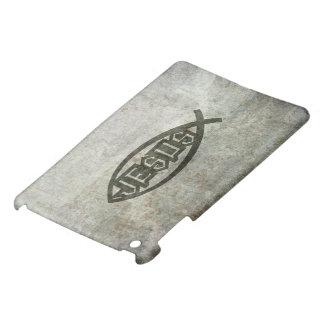 Urban Concrete Jesus Fish Ichthys iPad Mini Covers