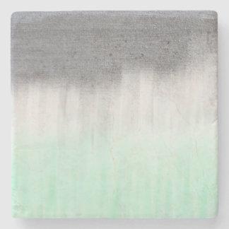 urban concrete, mint green stone coaster