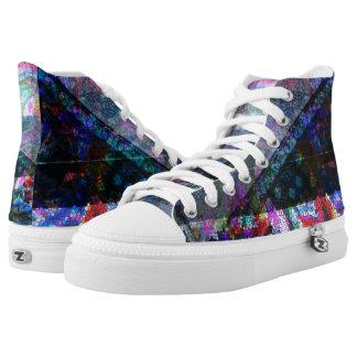 Urban cool mosaic design high top sneakers