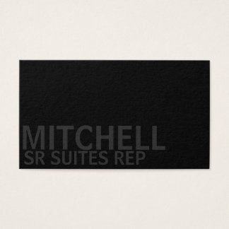 Urban Corner Black Business Card