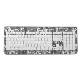 Urban Digital Camouflage Decor on a Wireless Keyboard