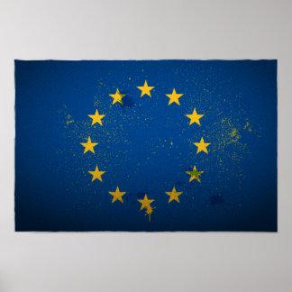 Urban European Union Flag Poster