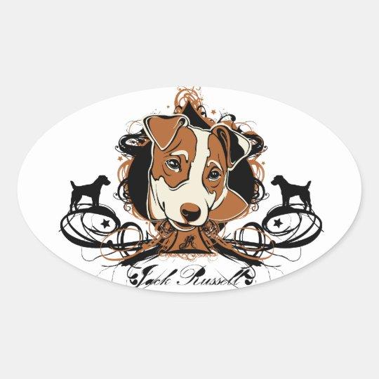 Urban Flourish Jack Russell Sticker
