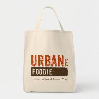 Urban Foodie Brown Logo Grocery Tote
