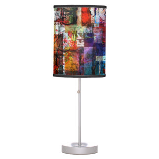 Urban Graffiti Collage Table Lamp