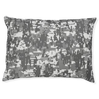 Urban Gray Digital Camo Camouflage Customizable Large Dog Bed