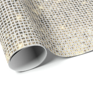 Urban Gray Sequin Shimmering Metallic Sparkly Wrapping Paper