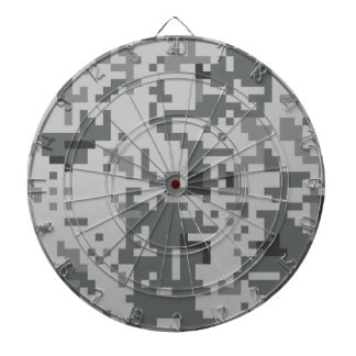 Urban Grey Pixel Camo pattern Dartboard