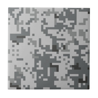 Urban Grey Pixel Camo pattern Tiles