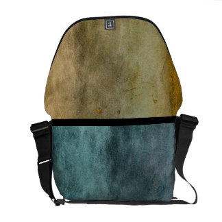Urban Grunge Blue and Brown Messenger Bags