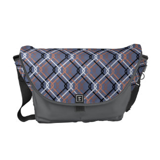 "Urban Grunge. ""Cain-link Check"" pattern. Cycle bag Commuter Bags"
