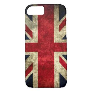 Urban Grunge England Flag Burn iPhone 7 Case