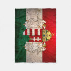Urban Grunge Hungary Flag Fleece Blanket