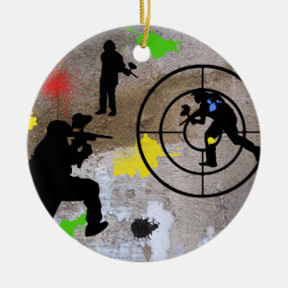 Urban Guerilla Paintball Round Ceramic Ornament