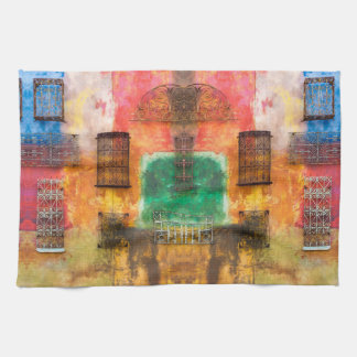 Urban iron work, painted wall, chic decay kitchen kitchen towel