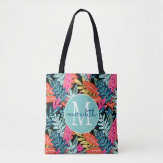 """""""Urban Jungle"""" Multicolor Floral #1 Tote Bag"""