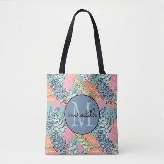 """Urban Jungle"" Multicolor Pastel Floral #2 Tote Bag"