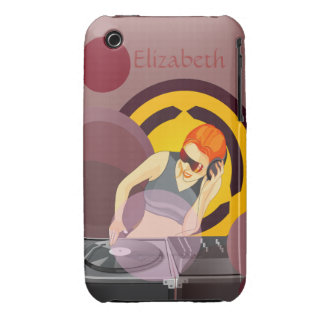 Urban Lady DeeJay Personalized iPhone 3 Cover