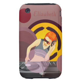 Urban Lady DeeJay Personalized iPhone 3 Tough Cases