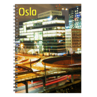 Urban landscape at night in Oslo, Norway Notebooks