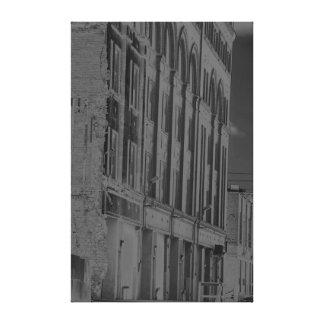 Urban Landscape in B W Stretched Canvas Print