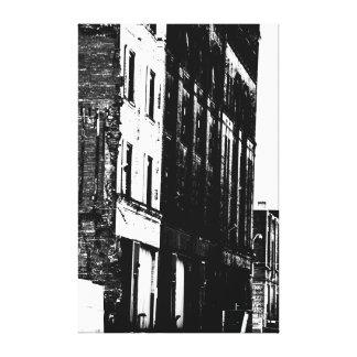 Urban Landscape in B W II Canvas Print