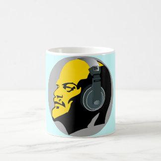URBAN LENIN WITH MUSIC HEADPHONES COFFEE MUG