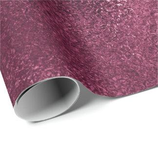 Urban Metallic Burgundy Beetroot Glass Metallic Wrapping Paper
