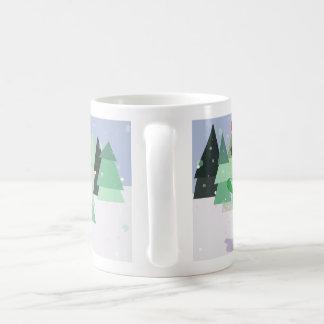 Urban monster on a board coffee mug