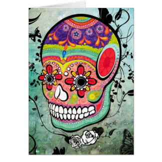 Urban Muerte Day of the Dead Illustration Card