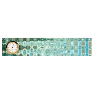 Urban Oasis Desk Nameplate with Clock by CL Brown