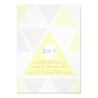 Urban Pastel Triangles | Baby Shower Card