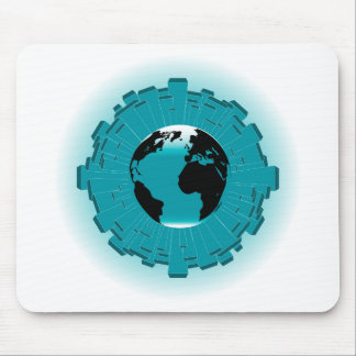 Urban Planet Earth Mouse Pad