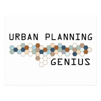Urban Planning Genius Postcard