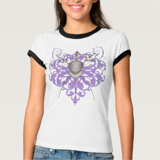 Urban Purple Swords Fencing Mask Women's T-Shirts