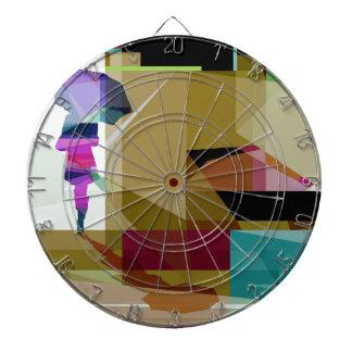 Urban rain dart board