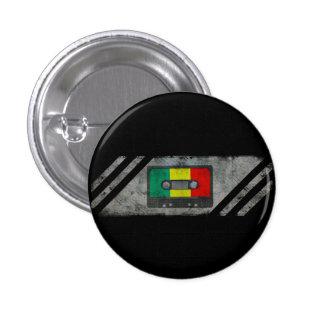 Urban reggae cassette 1 inch round button