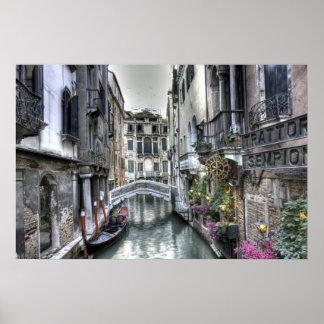 Urban scene in Venice Poster