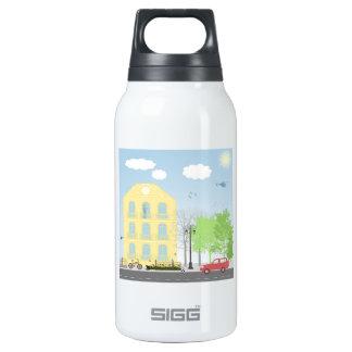Urban scene insulated water bottle
