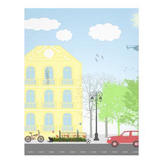 Urban scene personalized flyer