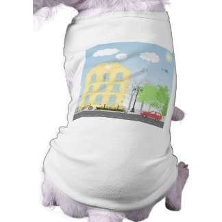 Urban scene pet t-shirt