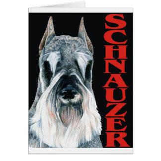 Urban Schnauzer Dog Design Greeting Card
