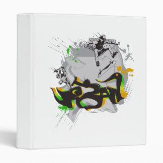 urban skateboard graffiti vinyl binders